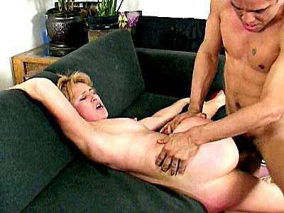 Sierra Vista rarely has guests so when this hot black stud came to visit this blonde grandma she was more than willing to do anything to please him She jerked him off suck his black dick and got her tight wet pussy fucked hard from behind