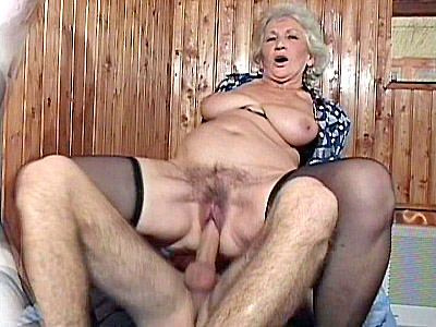 Dont be fooled by Erins frail look for this hot grandma is all about sucking cocks and having her pussy fucked Here she grabs a hot hunks hard dick and the spreads wide so she could have her pussy fucked while still wearing her stockings