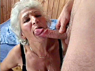 Erin is one hot grandma whos usually mistaken for a frail old lady What people dont know though is that shes one horny cock sucker who loves to stuff her mouth full of dick Here she eagerly laps up a hard dick before spreading wide so she could have her pussy fucked
