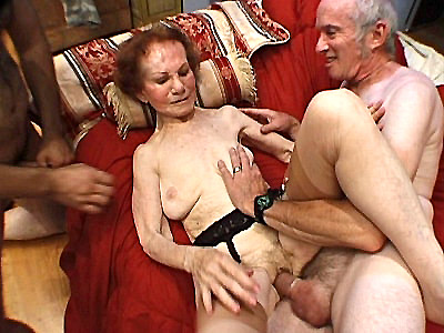 Dont think that Linda here is a fragile granny for shes definitely not This horny grandma even manages to service two horny men by sucking one of them while having her pussy fucked Watch this hot mature writhe and moan as shes filled hard in this hot threesome