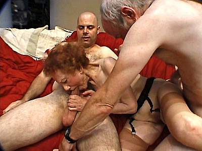 Granny Linda may look fragile but this hot mature is far from it In fact she is strong enough to service two horny men as they try to fondle her tits and play with her pussy Watch this horny grandma suck off one huge dick while she has her pussy drilled