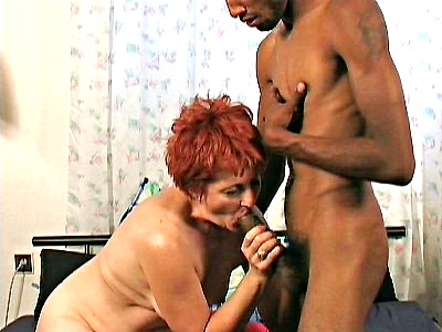 Hannys dyed red hair was as red as her huge dildo She was more than ready for some hardcore fucking but with no one around she had to settle for her toy When she finally had a real cock though she gladly spread wide so he could spear her mature pussy